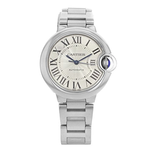 2dcc08cb98af Cartier Ballon Bleu Automatic Silver Flinque Dial Ladies Watch W6920071