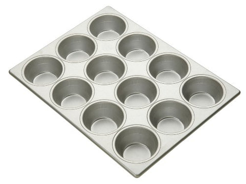Focus Foodservice Commercial Bakeware 12 Count 3-11/16-Inch Pecan Roll Pan