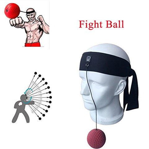 Heth Boxing Fight Reflex Ball with Boxing headscarf for Training to Improve Reactions and Speed,Decompression Boxing Training Household Equipment