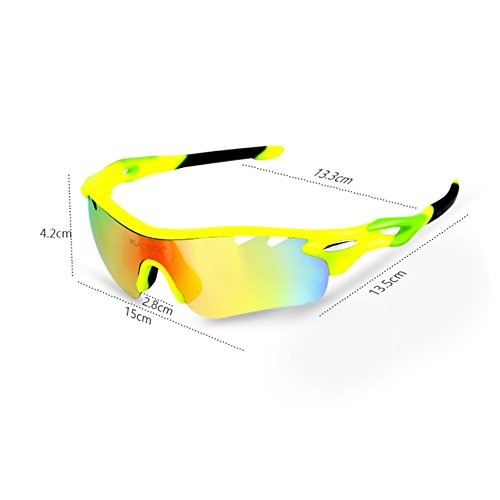 e71047f6779 Polarized Sports Sunglasses with 5 Interchangeable Lenses for Men Women  Cycling Baseball Running Fishing Driving Golf