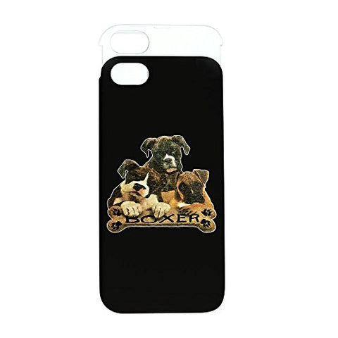 iPhone 5 or 5S Wallet Case Black and White Boxer Trio with Bone Name Plate