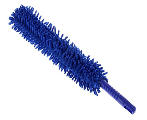 Tpfocus Auto - Car Interior & Exterior Microfiber Detail Duster; Long, Washable, Foldable, Flexible,Royal Blue