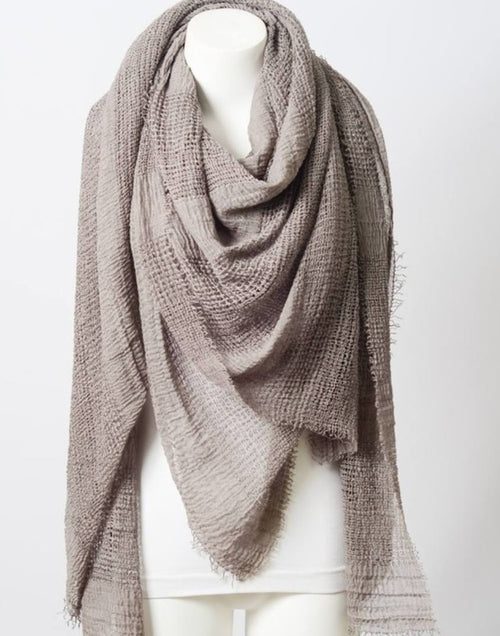 Perfect Square Light Beige Blanket Scarf