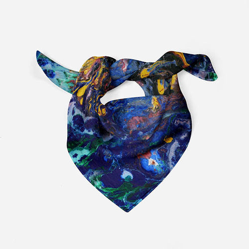 Abstract Oil Painting Silk Scarf Bandana Scarf