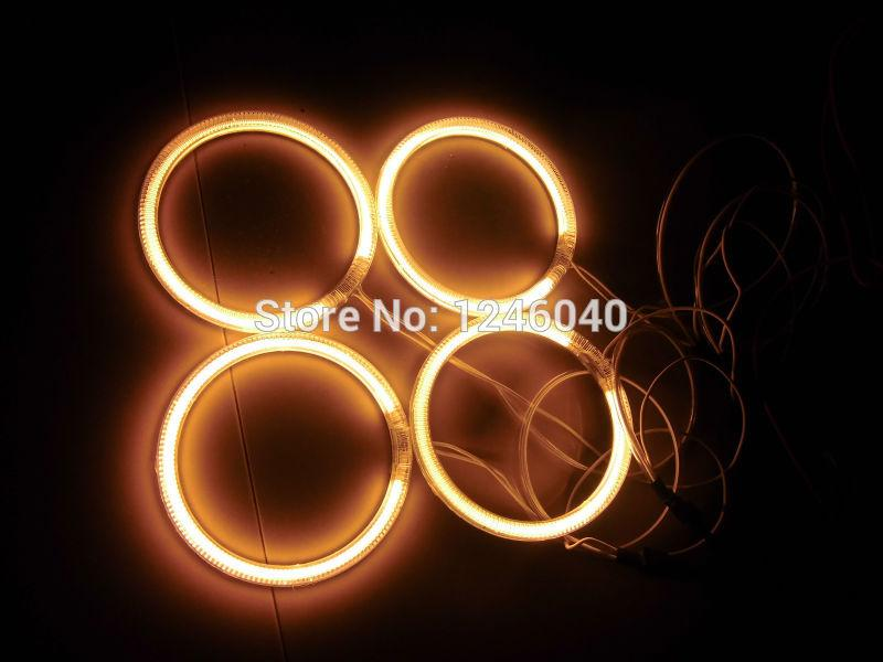 4PCS CCFL angel eyes halo rings with 2pcs inverters for car Motorcycle size  60/72/80/85/90/94/100/106/110/115/120/126/140/145MM