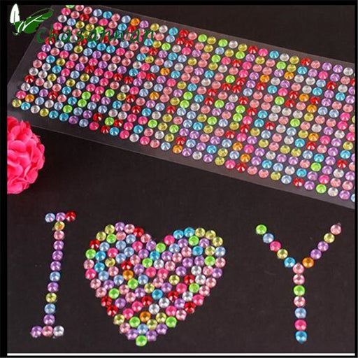 504pcs/sheet 6mm Rhinestones DIY Scrapbooking Stickers DIY Crafts supplies Sticker Sewing Fabric Nail Art Phone Decoration-q