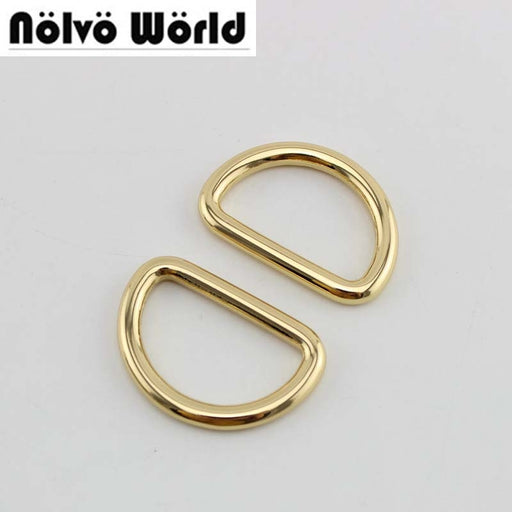 "50pcs 4 colors 4.6mm thick,32X19mm 1 1/4"" bags handbags welded d ring metal,round edge powerful closed d rings"