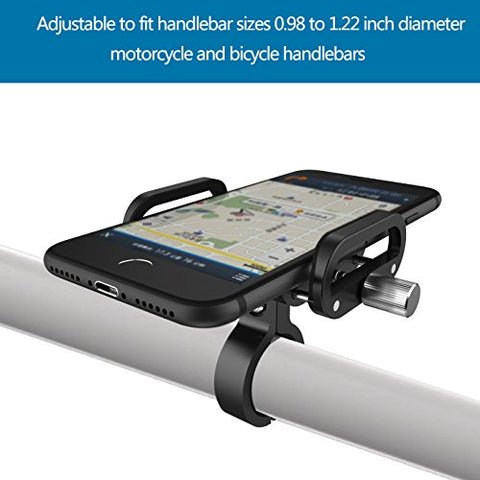 Vogek Bike Phone Holder, Aluminum Bike Mount Cell Phone Holders for Bicycle Motorcycle Handlebar for iPhone 8/8 Plus, iPhone 7/7 Plus, 6/6 Plus, 5s, Samsung Galaxy S7/S7 Edge