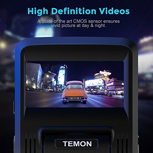 "Dash Cam, TEMON Car Camera : 2 45""LCD FHD 1080P WIFI Car Dashboard Camera  DVR Recorder, with Sony Sensor, Wide Angle Lens, Night Vision, Parking"