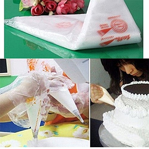 SuperStores 100PCS Disposable Bags Icing Nozzle Fondant Cake Decorating Pastry Tool Dessert Decorators