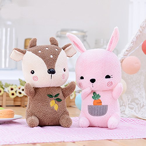 Me Too Sika Deer Plush Dolls Stuffed Cerf Animal Toys (Brown) 8''