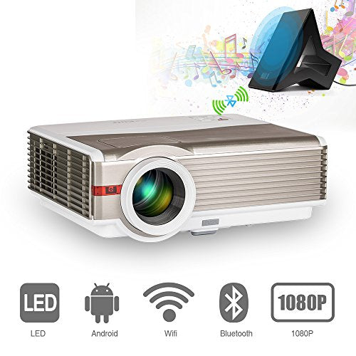 Video Projector Bluetooth WiFi 4200 Lumen HD 1080P LCD Home Theater  Backyard Cinema Movie Projectors, Support Airplay DLNA Screen Mirror for  iPad