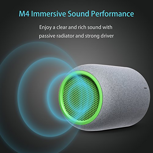 Bluetooth Speakers, ZENBRE M4 Wireless Speakers, Mini Computer Speakers with Enhanced Bass Resonator, Built-in Microphone (Green)