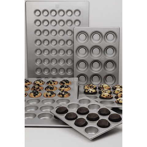 Focus Foodservice Commercial Bakeware 24 Count 1-7/8-Inch Mini Muffin Pan