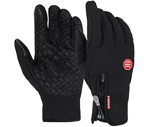 URSMART Men warm winter gloves Windproof Anti-slip Touch Screen Bicycle Motorcycle driving Gloves