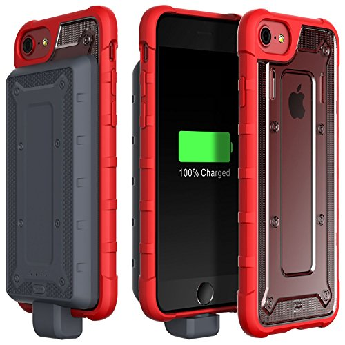 low priced 40a1b d29d7 Moretek iPhone 6S 6 Battery Case, 4800mAh Rechargeable Capacity Protective  Case External Portable Charging Case for iPhone 6S 6 7 8 Power Mobile ...