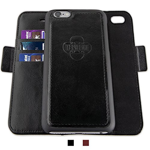 504d830ad43 iPhone 6/6s Plus Wallet Case,Tepoinn Slim Stand Flip Leather Case 2 ...