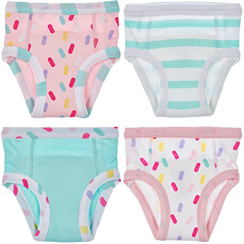 Trimfit Baby and Toddler Cotton Training Pants (Pack of 4), Sprinkles, 30M