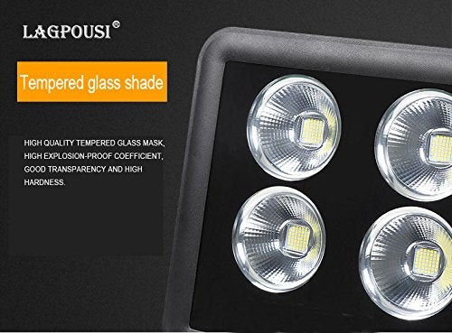 lagpousi 150W Super Bright Outdoor LED Spotlight Lights,750W Halogen Bulb Equivalent, Waterproof IP66 15000lm,OSRAM LED Chip,Angle of 60 Degrees,4000K Daylight,Garden Lights.Flood Light,floodlight