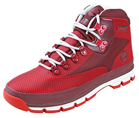 Timberland EURO Hiker Jacquard Mens Red Synthetic Hiking Boots Shoes 8