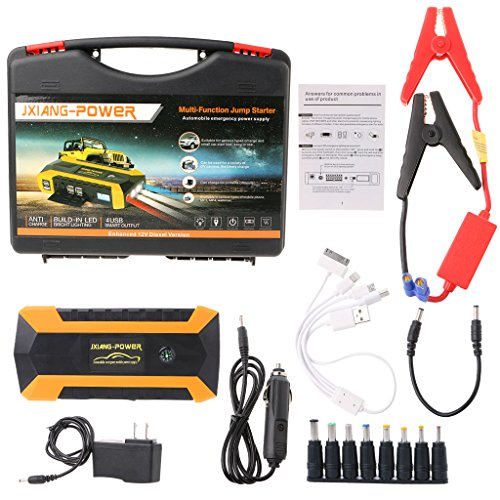 yournameI Car Emergency Power Charger, 18000mAh 4 USB Portable Car Jump Starter Pack Booster Charger Battery Power Bank