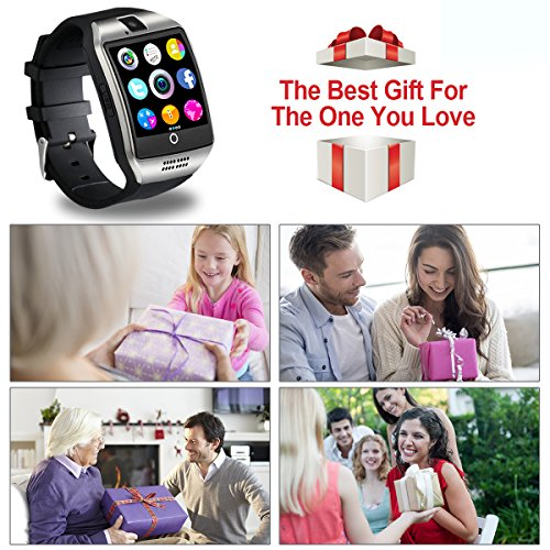 Smart Watch,Bluetooth Smartwatch Touch Screen Wrist Watch with Camera/SIM  Waterproof Phone Smart Watch Sports Fitness Tracker for Android iPhone IOS
