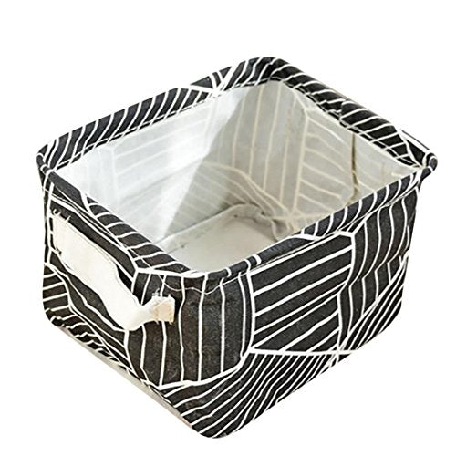 YJYDADA Foldable Bathroom Dirty Clothes Laundry Storage Buckets Box Bag (Black)