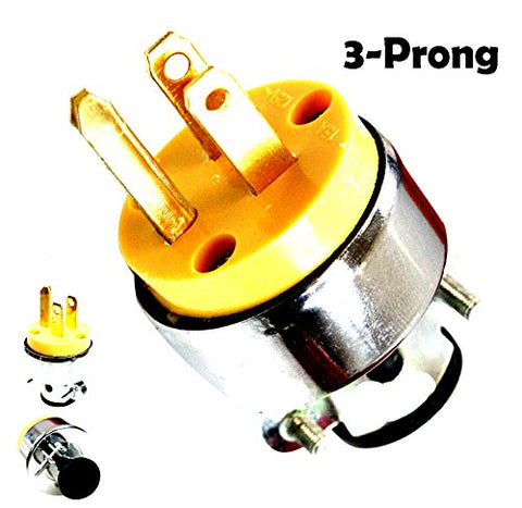 Power Tool Electric Plug 3 Prong Male Replacement For Worn Or Broken Plugs Heavy Duty Construction - Skroutz