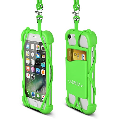 new arrivals 8e3ca a8502 2 in 1 Cell Phone Lanyard Neck Strap Case Universal Smartphone Necklace  Shockproof Cover with ID Card Slot Holder for iPhone X 8 7 6 6S 5 SE iPod  ...
