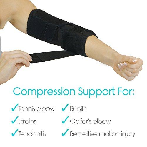 Adjustable Elbow Brace By Vive Arm Support Strap Tennis Elbow Spli