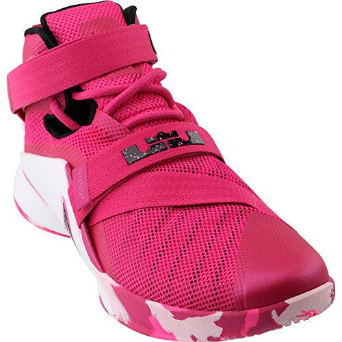 the best attitude c1e43 8054e Nike Lebron Soldier Ix Mens Basketball Shoes, Vivid Pink/White/Pink  Pow/Metallic Silver, 13 D(M) US