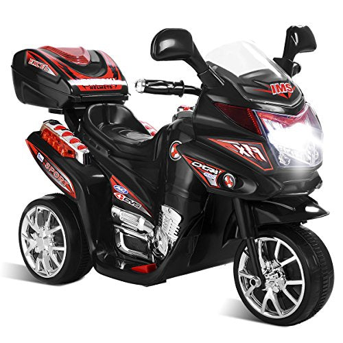 Costzon Ride On Motorcycle 6v Battery Powered 3 Wheels Electric