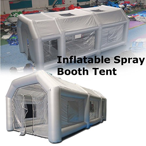 Adoner NEW 26x13x10Ft Inflatable Spray Booth Custom Tent Car Paint Booth Inflatable Car