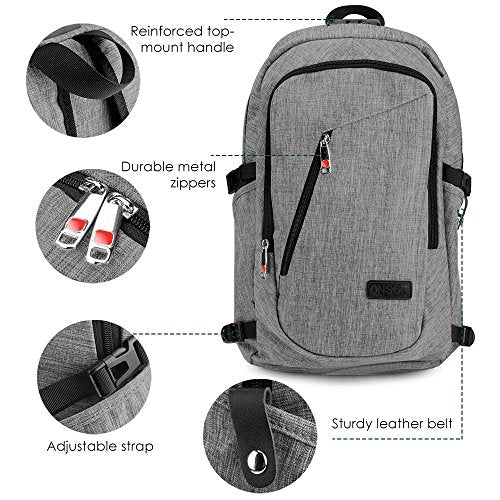 831a730c56 ONSON Anti Theft Business Laptop Backpack with USB Charging Port ...