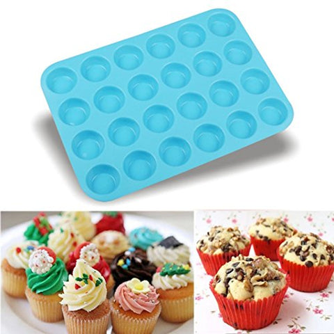 LiPing Circular Cake Mold Silicone Bakeware Set Professional Non-Stick Silicone Baking Set FDA Silicone Muffins and Brownies (F)