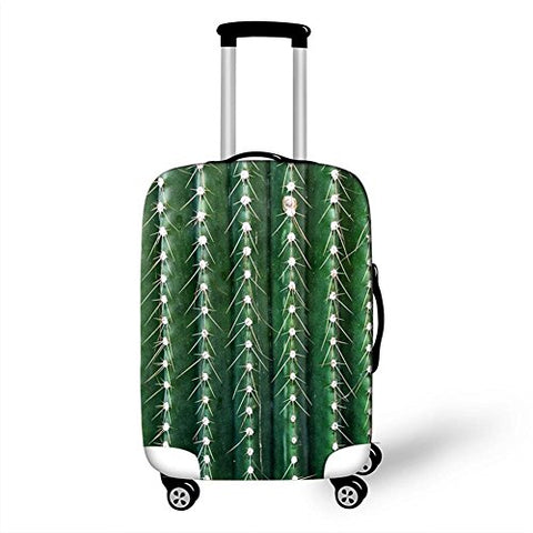 Dbtxwd Suitcase Protective Cover Personality Green plant Printing High Elastic force Dustproof Scratch-resistant 3D Travel Luggage Cover 18-28 inch , 4 , s