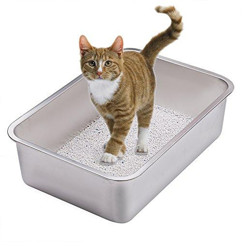 Stainless Steel Cat Litter Box for Cats and Rabbit - Odor Control, Non  Stick, Never Bend, Easy to Clean - This Will Be Your Last Cat Litter Box -  By