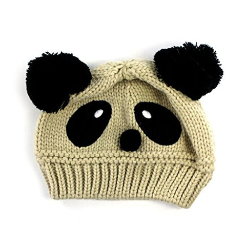 Winter Hats, Inkach Baby Girls Knitted Beanie Panda Shaped Hats with Pom Warm Hat Caps (G)