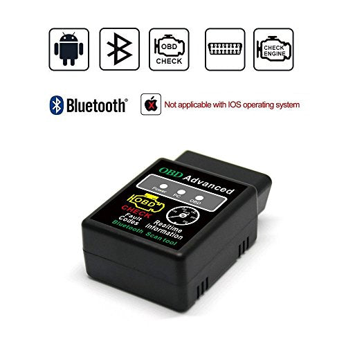 Golvery OBD ii auto code scanner, Bluetooth Car Diagnostic Tool Check Engine Light, Read & Clear Faulty Trouble Codes