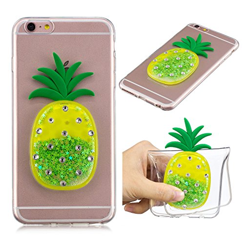 30865536e92e DAMONDY iPhone 6s Case,iPhone 6 Case, 3D Diamond Pineapple Bling Liquid  Glitter Soft