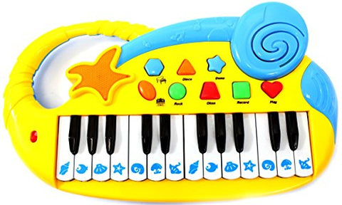 AMPERSAND SHOPS Kids Musical Instrument Electric Piano with Playback (Yellow)