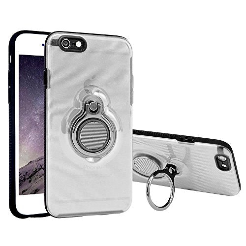 buy popular 89780 ac9d4 iPhone 6 Plus Case, iPhone 6s Plus Case Dairnim with 360° Kickstand Ring  Crystal Clear TPU&PC Slim Hybrid Scratch Resistant Transparent Protection  ...