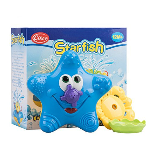 Bath Toys for Kids,Cikoo Swimming Pool Toys,Baby Floating Bathtub Sprayer Starfish Squirt