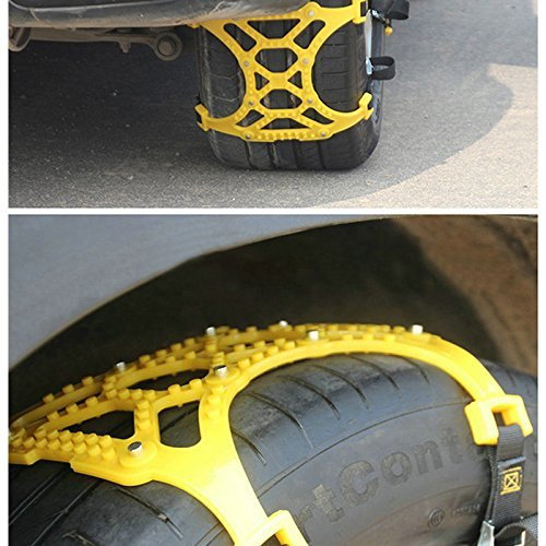 Sedeta car Security Chain Off-Road SUV Safe Snow Tire Wheel Chains Emergency Thickening Anti-skid Belt Yellow for SUV c