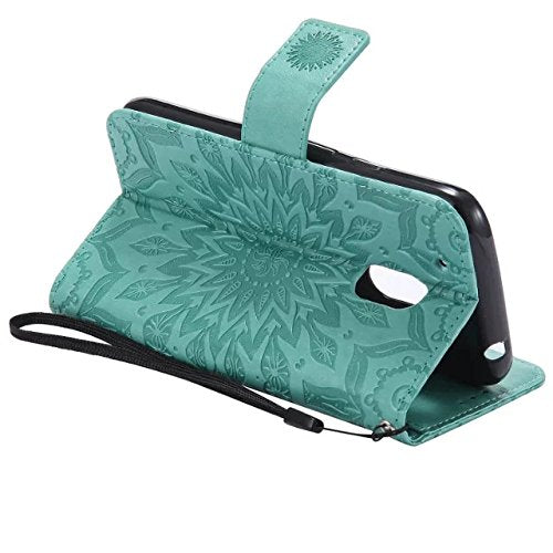 cozy fresh 1f95f 804fc Moto G4 Play Wallet Case,A-slim(TM) Beauty Fashion Sun Pattern Embossed PU  Leather Magnetic Flip Cover Card Holders & Hand Strap Wallet Purse Cover ...
