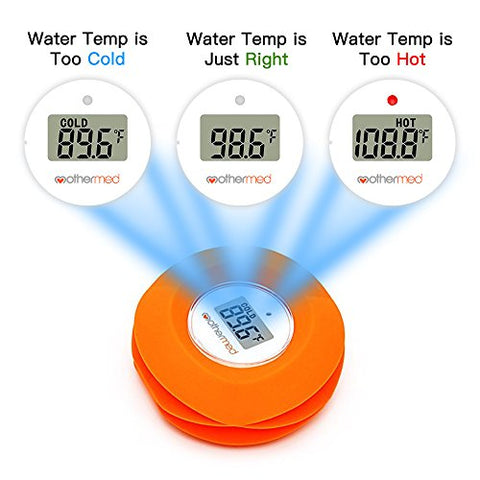 MotherMed Baby Bath Thermometer and Floating Bath Toy BathTub and Swimming Pool Thermometer , Red Flower
