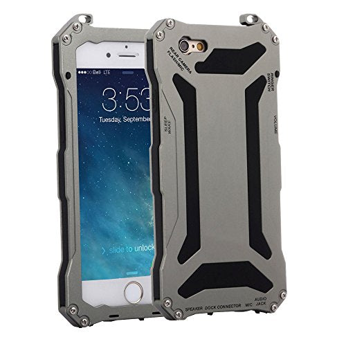 purchase cheap b801c 01311 iPhone 6 Plus Case, Seddex iPhone 6 Plus Aluminum Alloy Metal Gorilla Glass  Waterproof Gorilla case, Shockproof Protective Dustproof Cover Case for ...