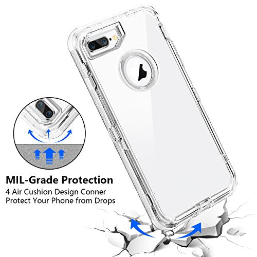 efa753f8f1 iPhone 8 Plus Case, iPhone 7 Plus Case, Coolden Clear Phone Case Hybrid  Protective