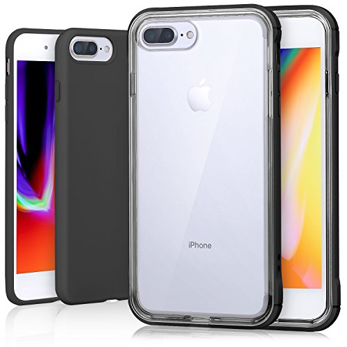 sports shoes 40dae 87369 iPhone 8 Plus Case, Costyle 2 Pack Hybrid Soft TPU Silicone Gel Clear Back  Cover + Colorful Hard PC Bumper & Slim Thin Matte TPU Protective Case for  ...