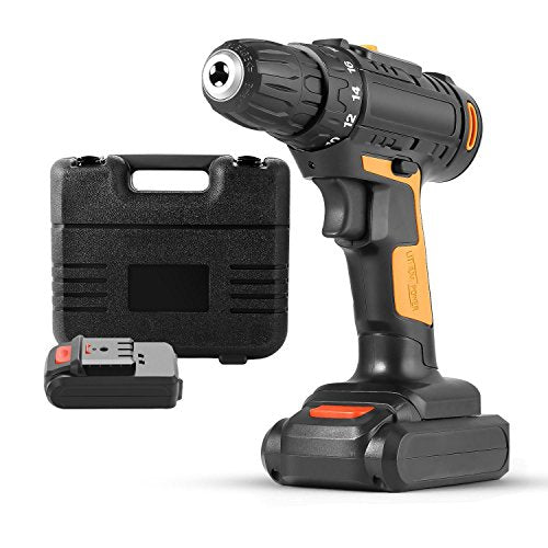 Rapesee Cordless Drill Power Compact Driller, Double Speed 2 In 1 Cordless Lithium-Ion Compact Drill Driver Kit